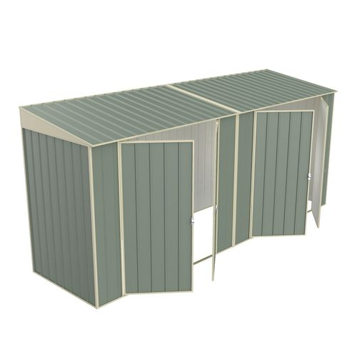 Build-a-Shed 1.2 x 4.5 x 2.0m Skillion Double Hinged Side Door Shed - Green