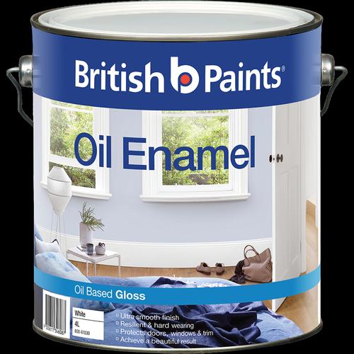 British Paints 4L Gloss White Enamel Paint