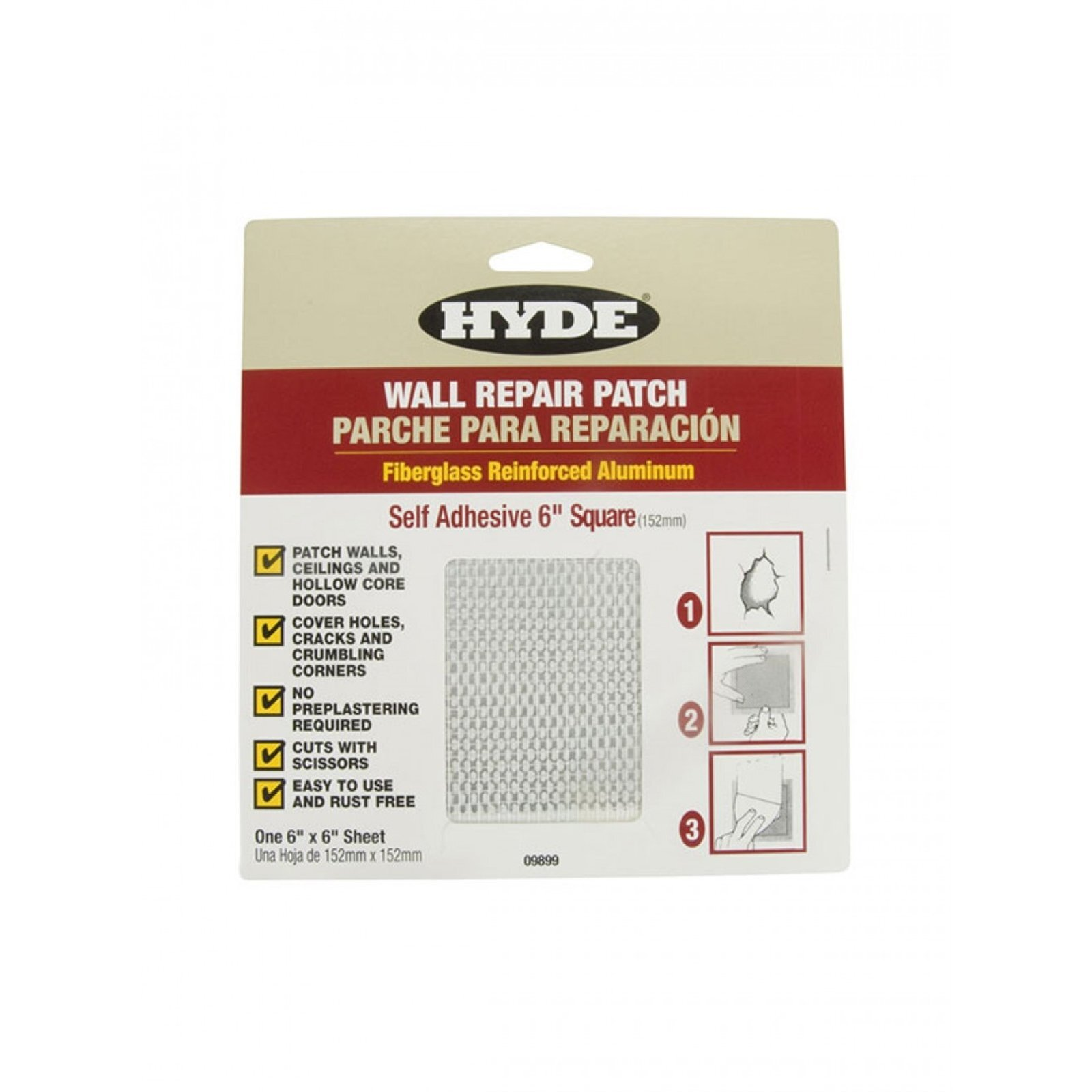 Hyde 152mm x 152mm Self Adhesive Wall Patch