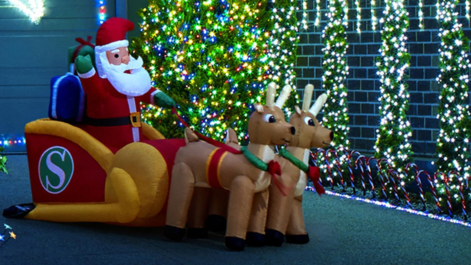 Christmas inflatables - Outdoor decorations - Santa