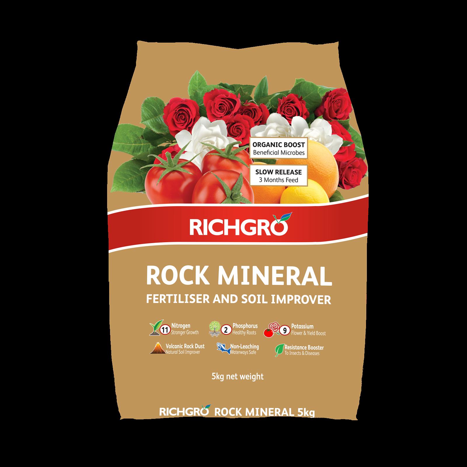 Richgro 5kg Rock Mineral Fertiliser and Soil Improver