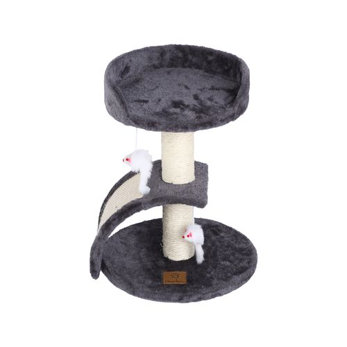 Charlie's Pet Cat Tree with Scratching Slope - Charcoal