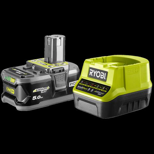 Ryobi 18V ONE+ 5.0Ah Battery And Charger Combo Kit