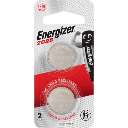 Energizer 2025 Lithium Coin Battery - 2 Pack