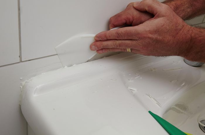 DIY Step Image - How to remove a silicone sealant . Blob storage upload.