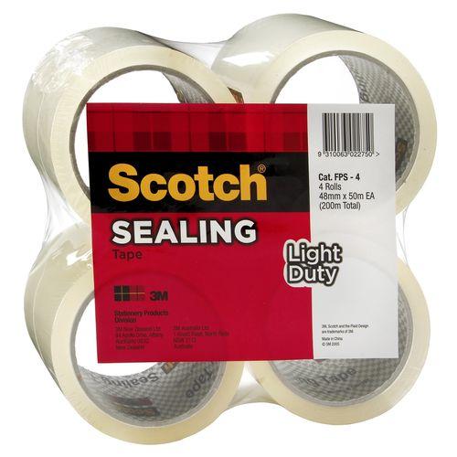 Scotch™ Sealing Tape 48mm x 50m Clear 4pk