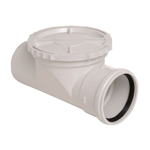 Marley White M/F Access Pipe with Rubber Ring