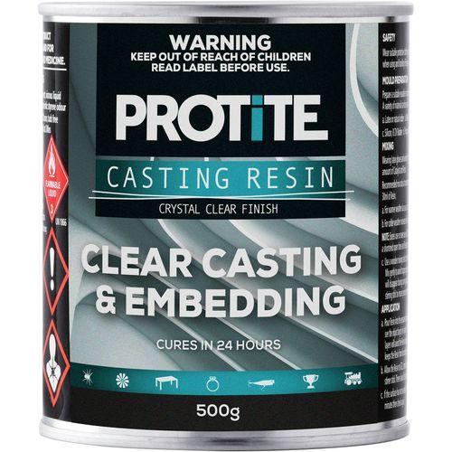 Protite 500g Clear Casting Embedding Fibreglass Resin