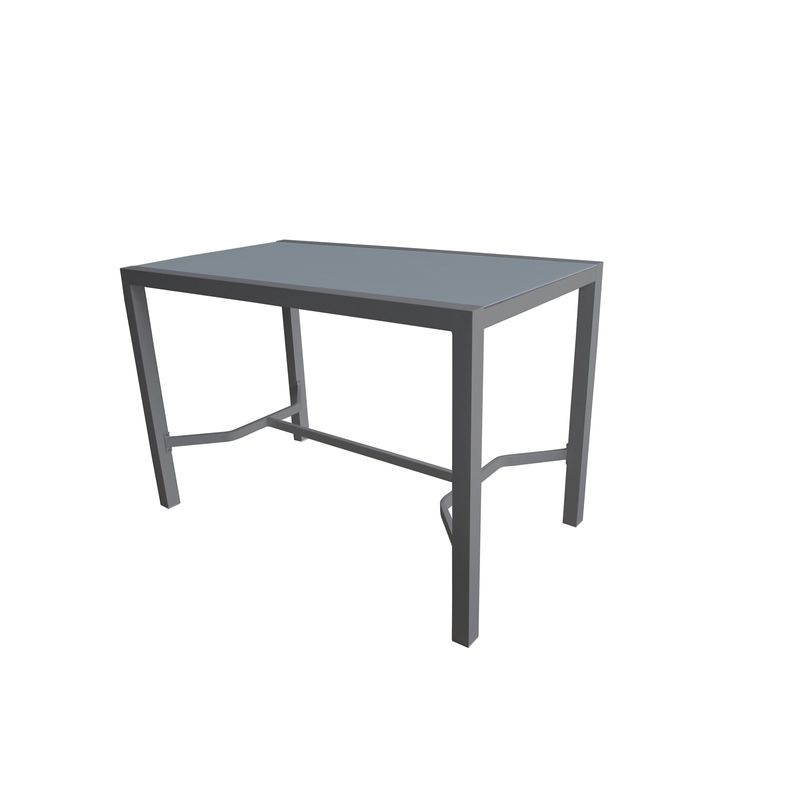160 x 90cm Lava Aluminium Bar Table