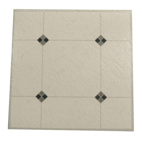 Winton Self-Stick Black Diamond Vinyl Floor Tiles