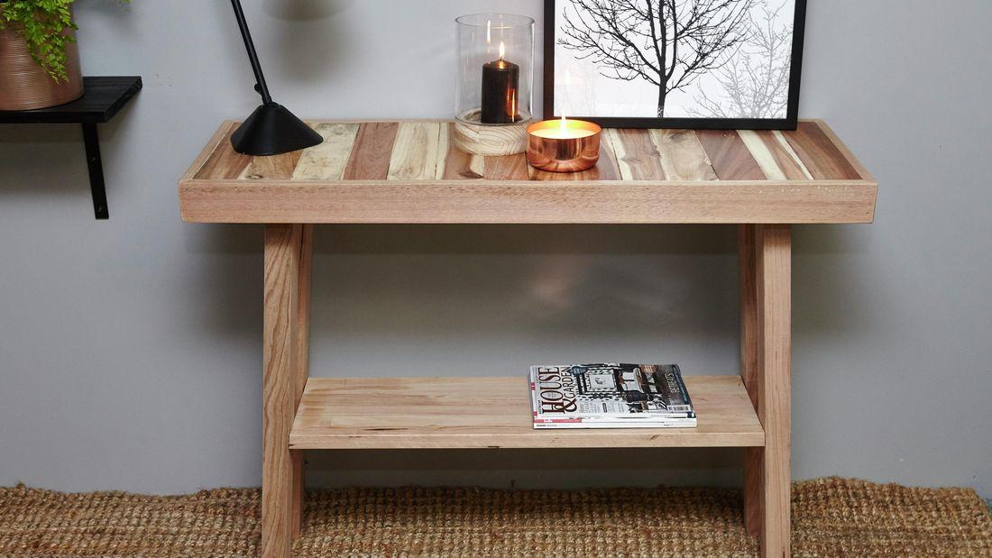 DIY Step Image - D.I.Y. pallet hall table . Blob storage upload.