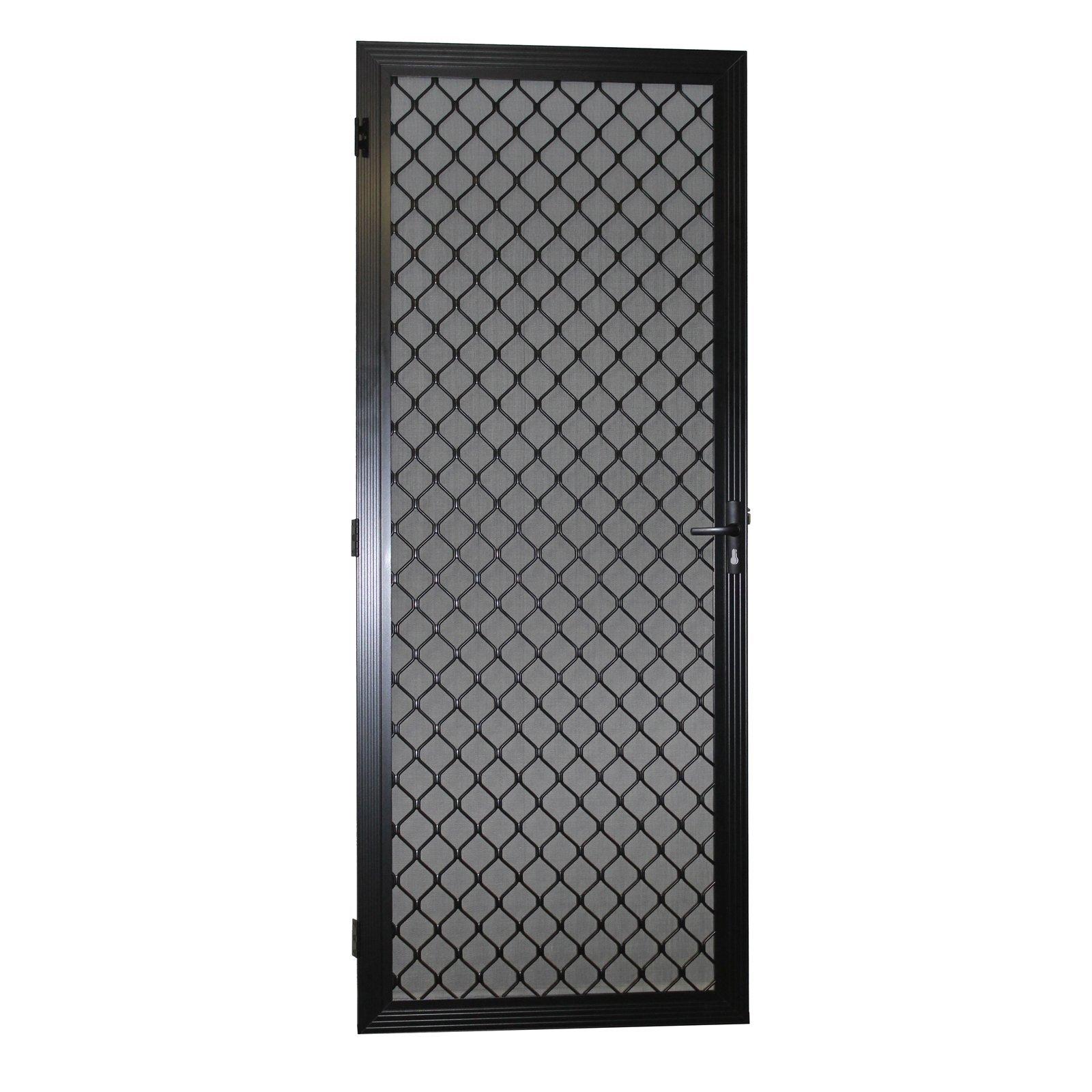 Protector Aluminium 813 x 2032mm Black Metric Fixed Barrier Door