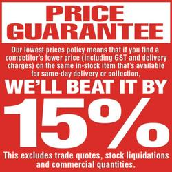 Bunnings price policy graphic.
