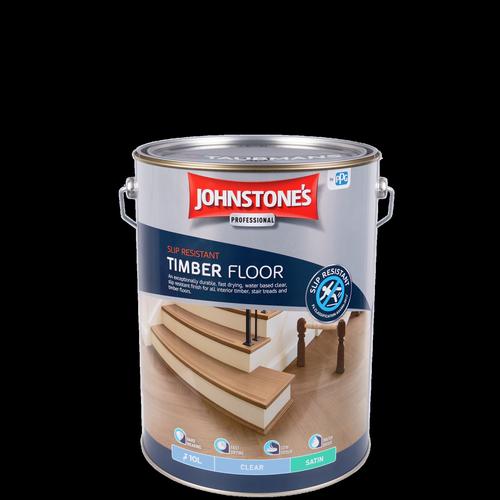Johnstone's 10L Clear Satin Interior Slip Resistant Timber Floor Finish