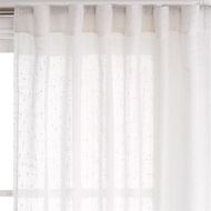 Claremont 140 x 250cm Sheer Reed White Concealed Tab Top Curtain