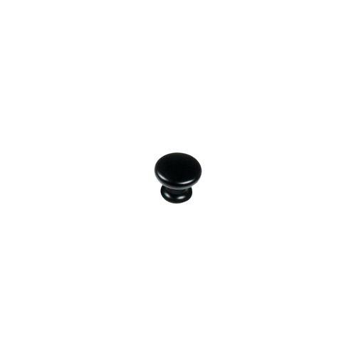 Kaboodle 27mm Matt Black Finish Mushroom Knob
