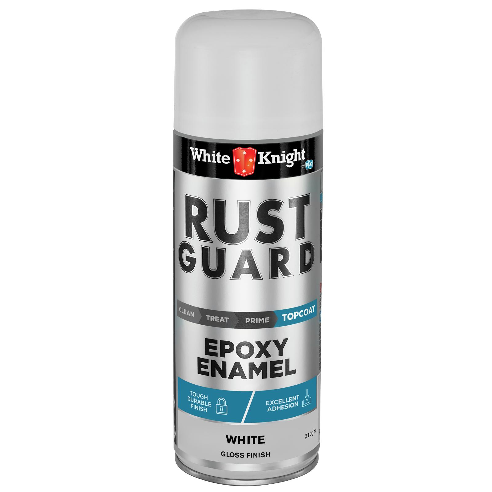 White Knight Rust Guard 310g Gloss White Epoxy Enamel Spray Paint
