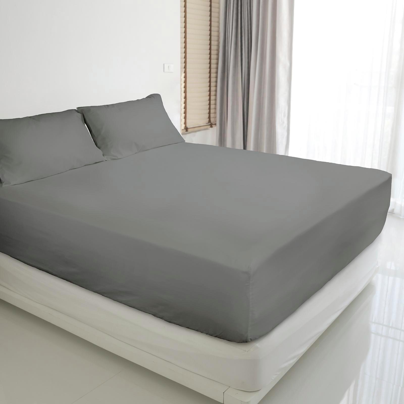 Ardor Charcoal 3000TC Cotton Rich King Sheet Set