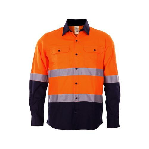 Craftright XL Hi Vis Orange Long Sleeve Shirt