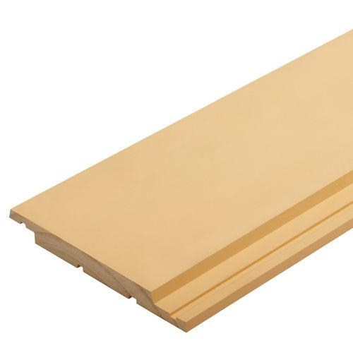 180 x 18mm H3.1 Pre Primed Finger Jointed Pine Vertical Shiplap Weatherbaord - Per Linear Metre