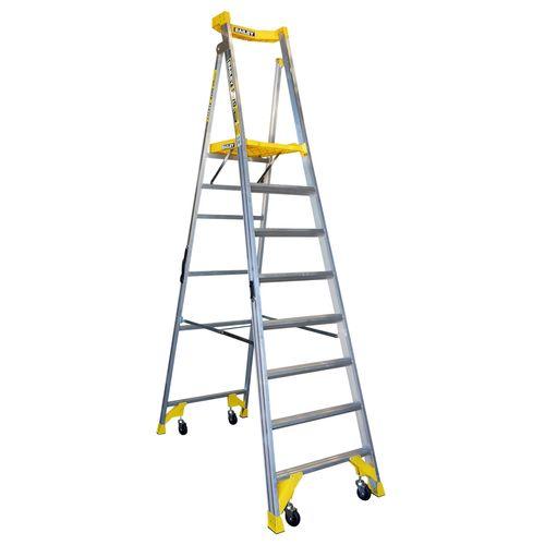 Bailey 170kg 8 Step Aluminium Job Station Platform Ladder