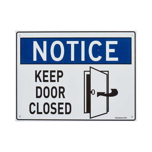 Sandleford 300 x 225mm Keep Door Closed Plastic Sign