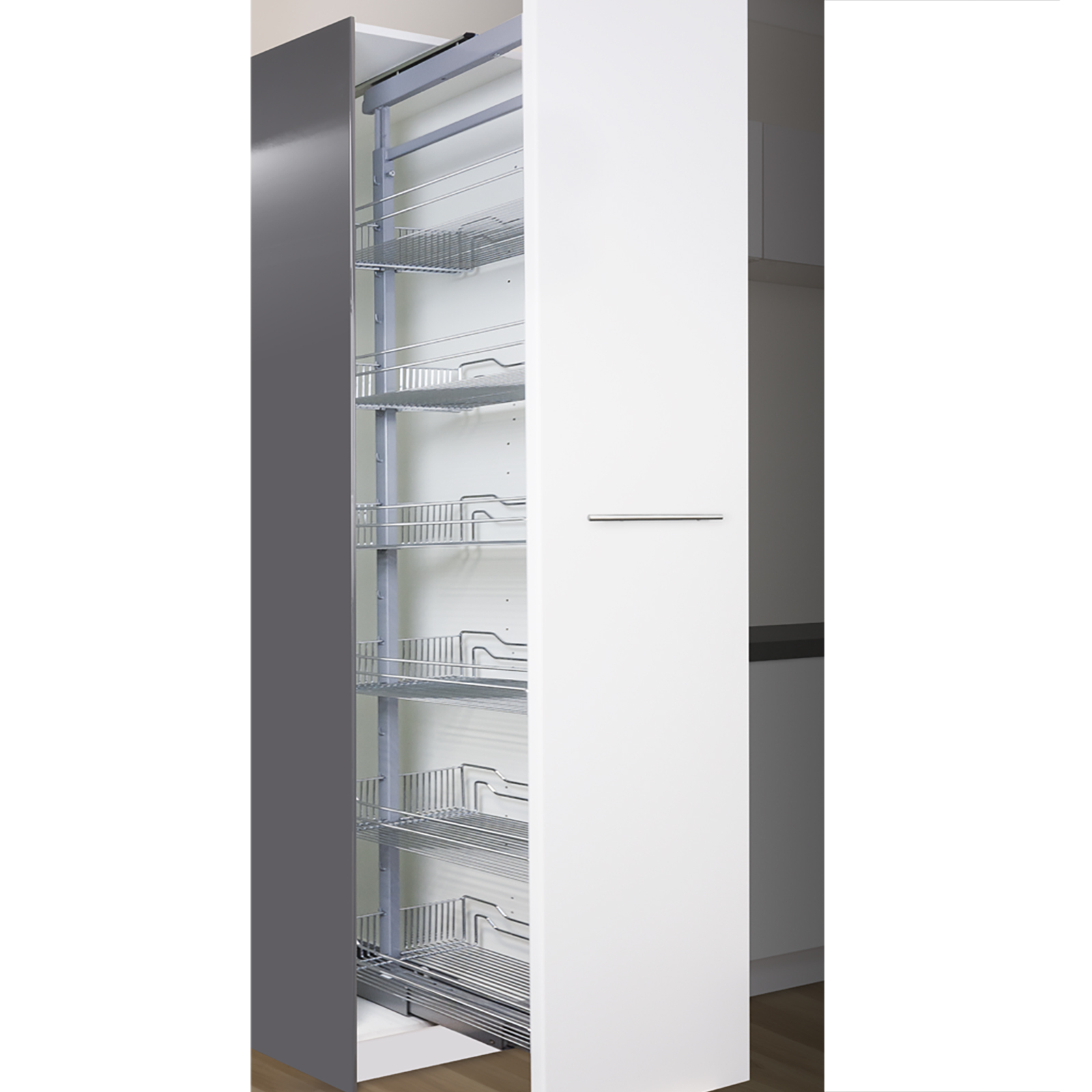 Kaboodle 450mm Wire Pull Out Pantry Baskets
