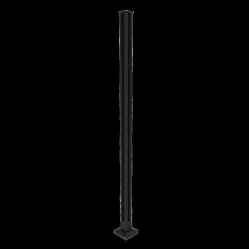 Architects Choice 50 x 50 x 1300mm Black Glass Fence Flange Corner Post