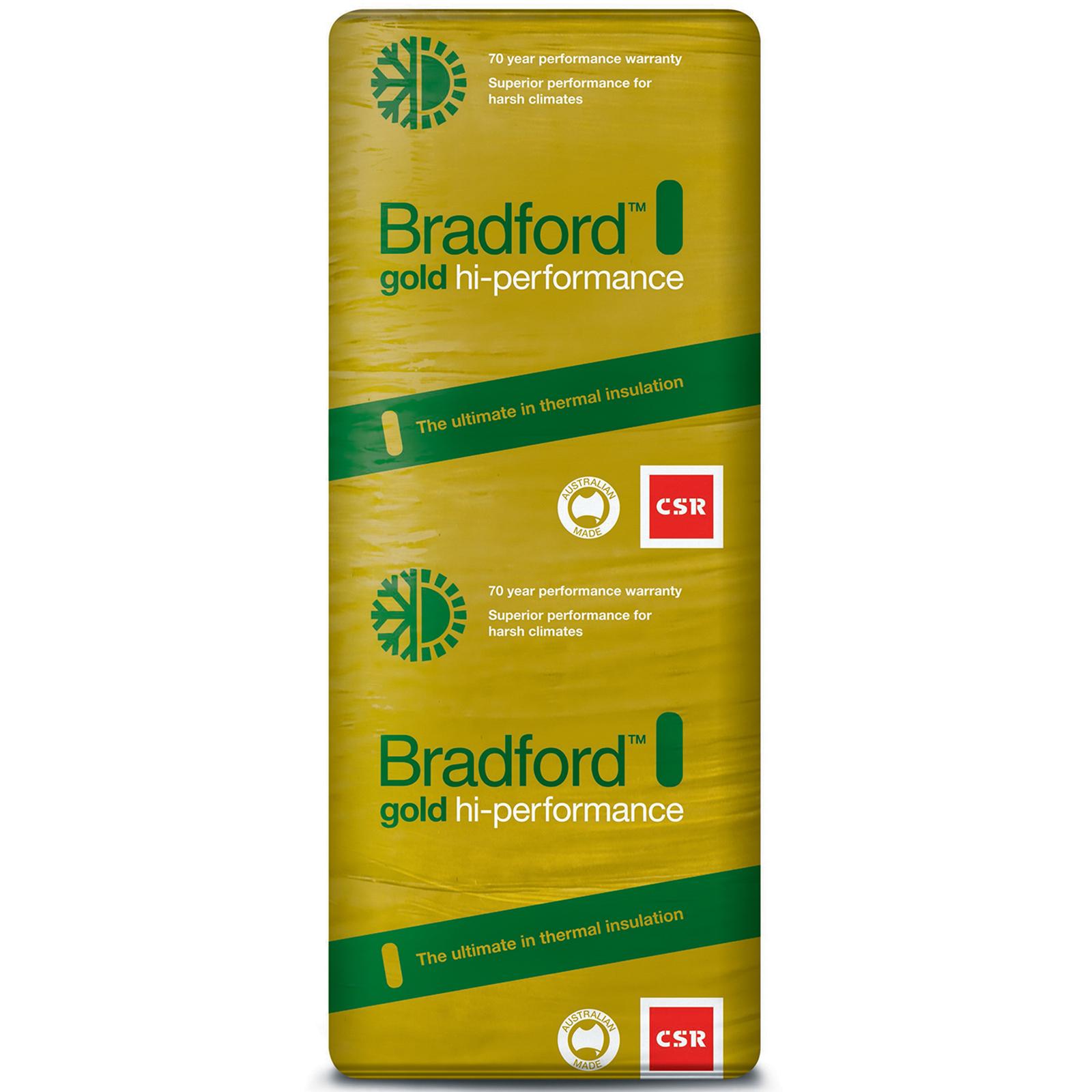 Bradford R3.0 1160 x 430 x 165mm 9.0m2 Gold Ceiling Batts - 16 Pack