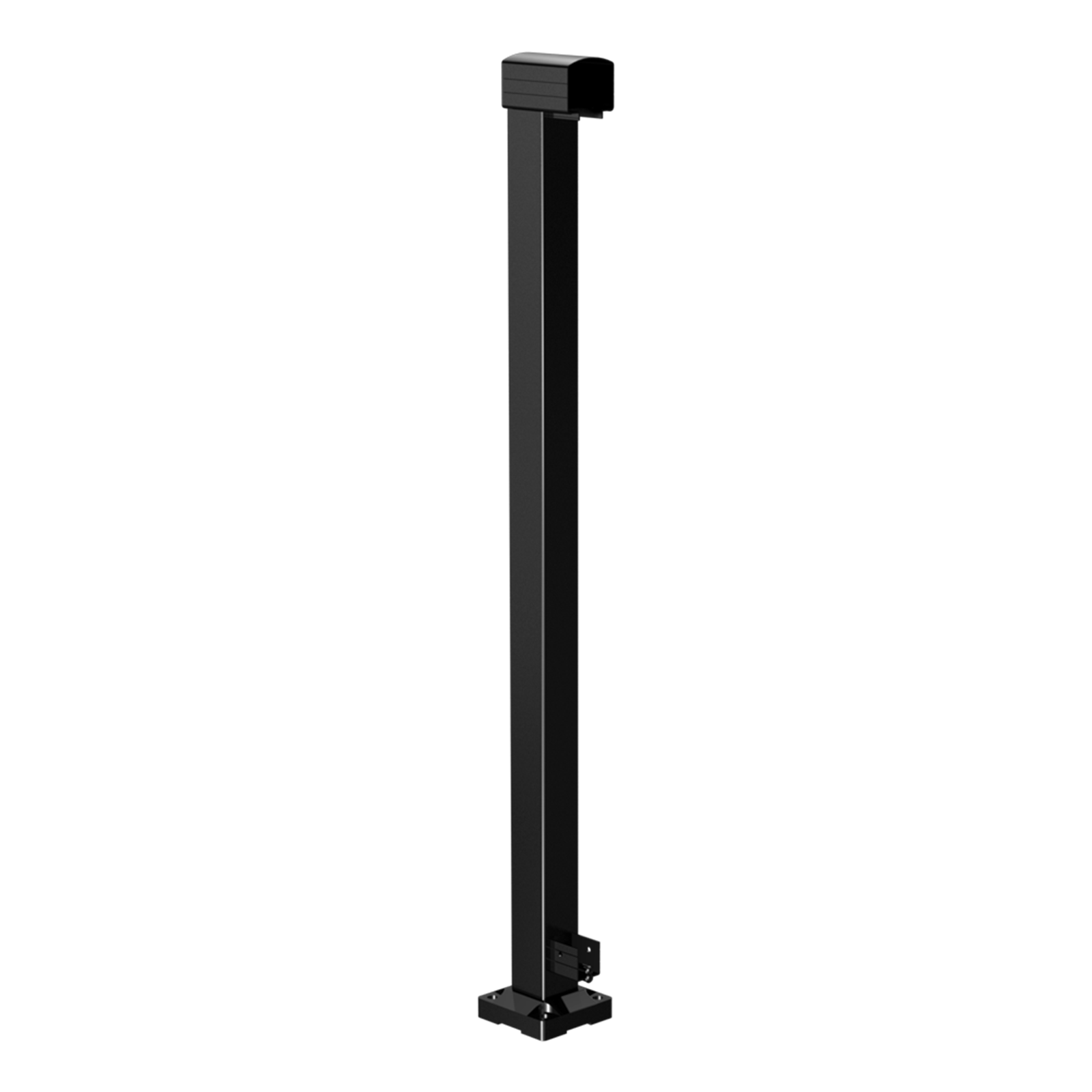 Peak Products 1000mm Black Aluminium Balustrade End Post