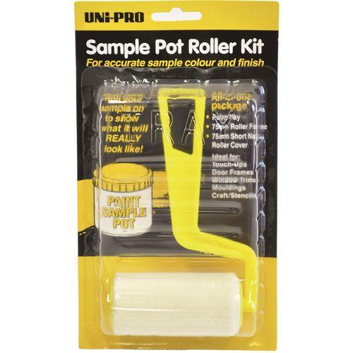 UNi-PRO 75mm Sample Pot Paint Roller Kit