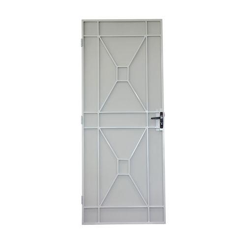 Bastion 2032 x 813mm White Sutton Metric Steel Frame Screen Door