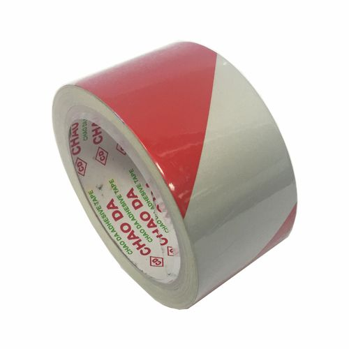 Brutus 50mm x 10m Red And White Reflective Adhesive Safety Tape