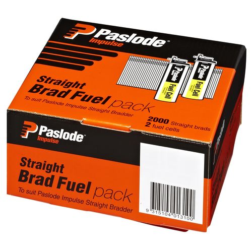 Paslode C50 x 1.6mm Zinc Impulse Plated Straight Brad Fuel - 2000 Pack