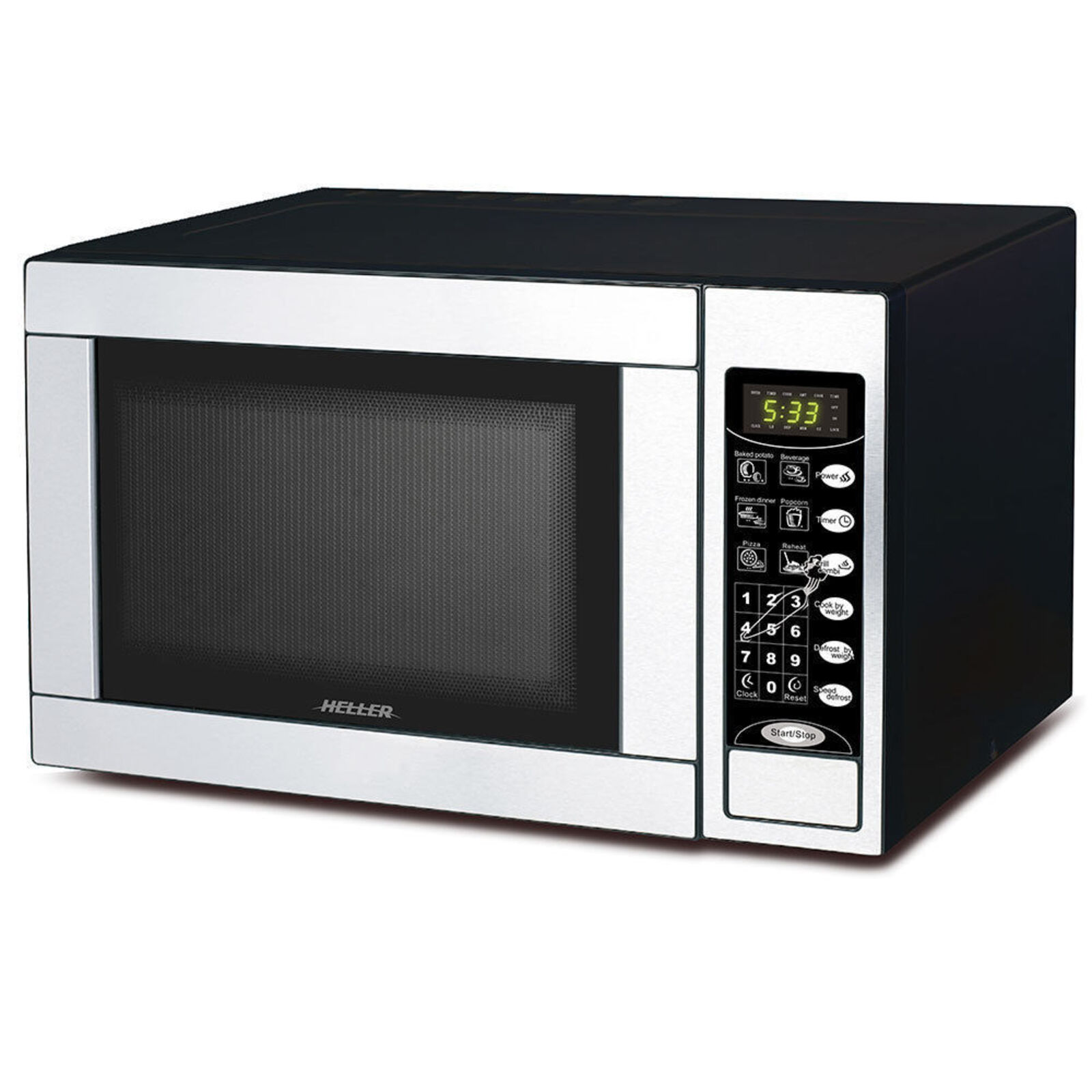 Heller 1000W 30L Electric LED Digital Microwave Oven w/Grill toaster/Grilling