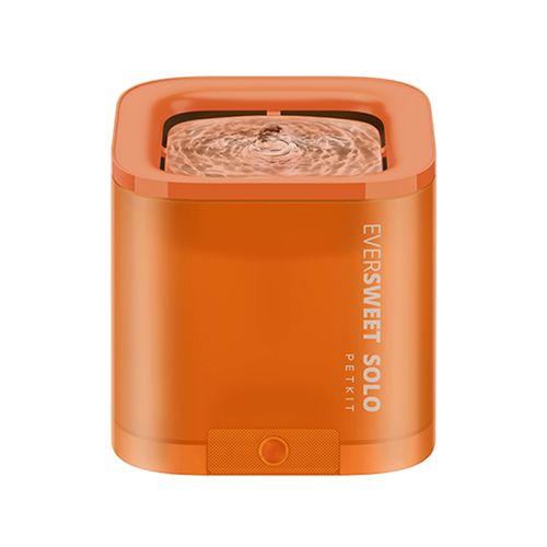 Petkit 16cm 1.8L Eversweet Solo Smart Water Drinking Fountain Dog/Pet/Cat Orange