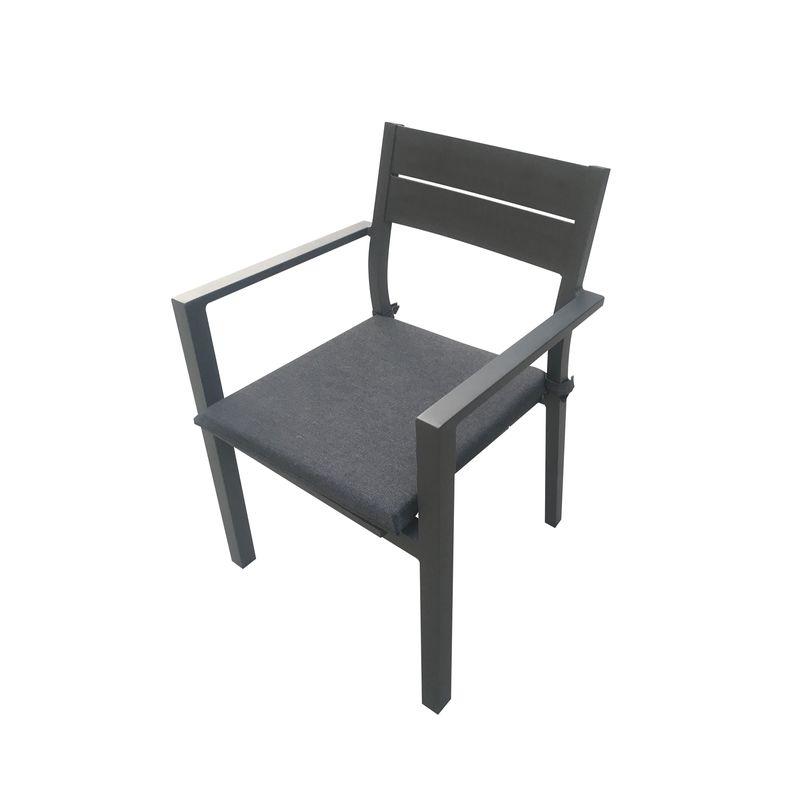 Aluminium Lava Dining Chair with Cushion