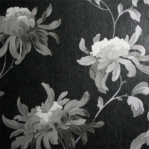 Designer 52cm Black / Grey JMD Fabulous Wallpaper - Black / Grey ½m