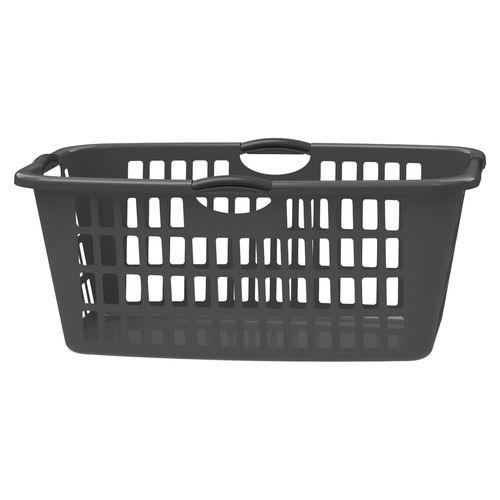 HomeLeisure Rectangular Jumbo Laundry Basket - Charcoal