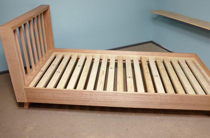 Completed D.I.Y. timber bedframe