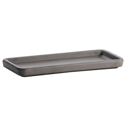 Northcote Pottery 40cm Grey Italian Terracotta Window Box Saucer