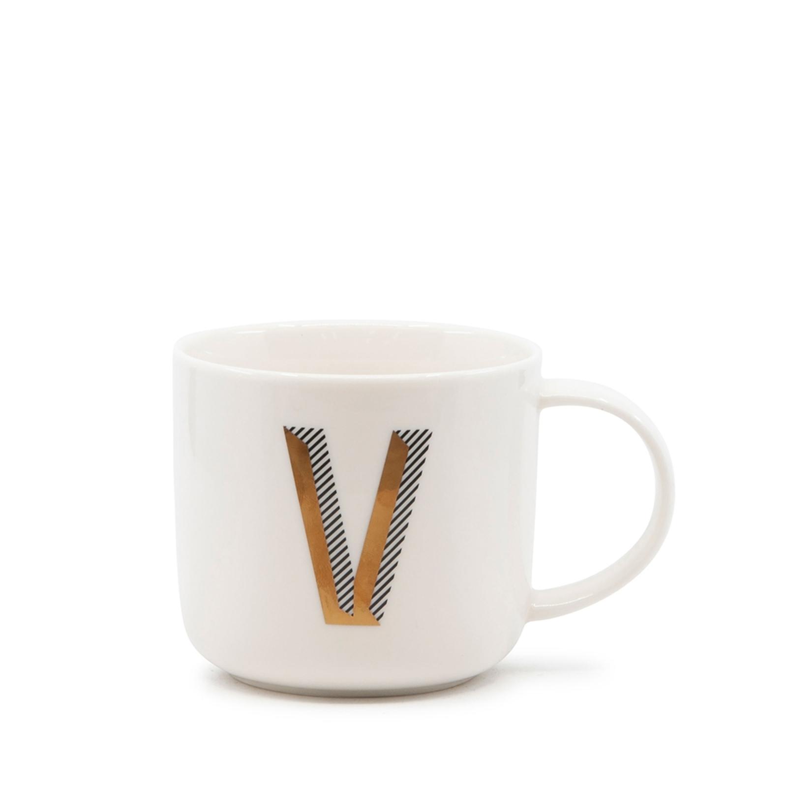 Alpha Mug - 400ml - Letter V
