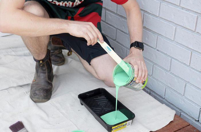 DIY Step Image - How to paint your front door. Blob storage upload.