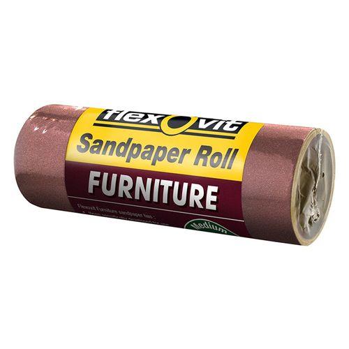 Flexovit 100mm x 1m 120 Grit Furniture Sandpaper Roll