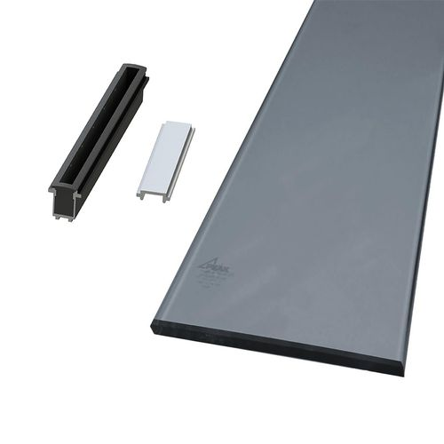 Peak Products 1800mm Aluminium Balustrade Sectional Glass Kit With Tinted Glass Panels