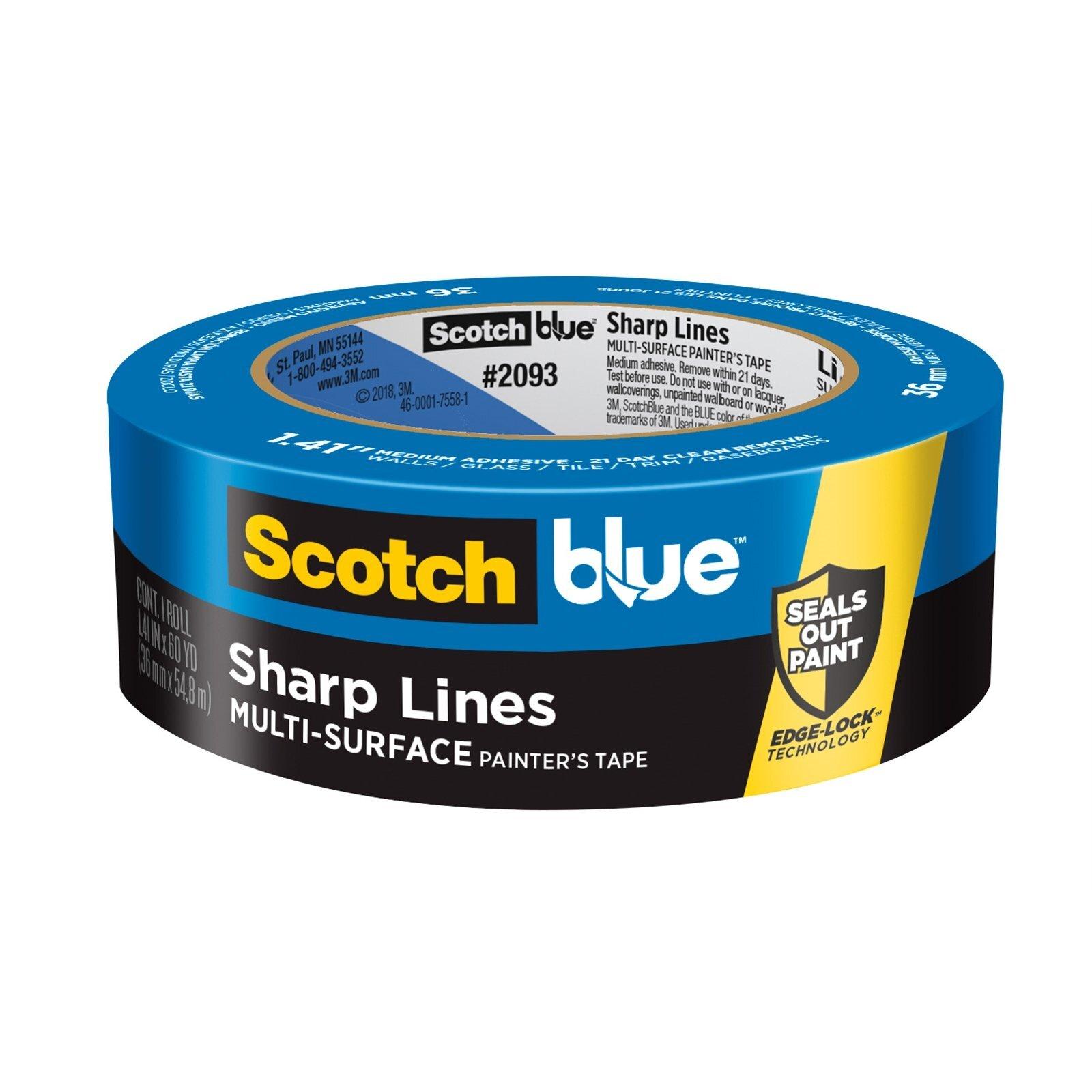 ScotchBlue 36mm x 55m Sharp Lines Multi-Surface Painter's Masking Tape