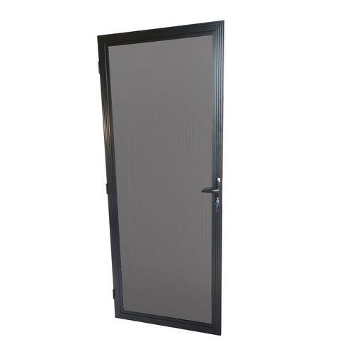 Protector Aluminium 813 x 2032mm Black Fixed Metric Stainless Steel Security Door
