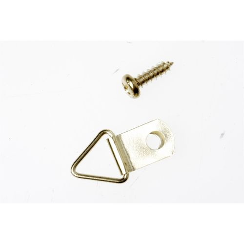 TIC 6kg Small Brass Plated Framing Picture Triangles - 25 Pack