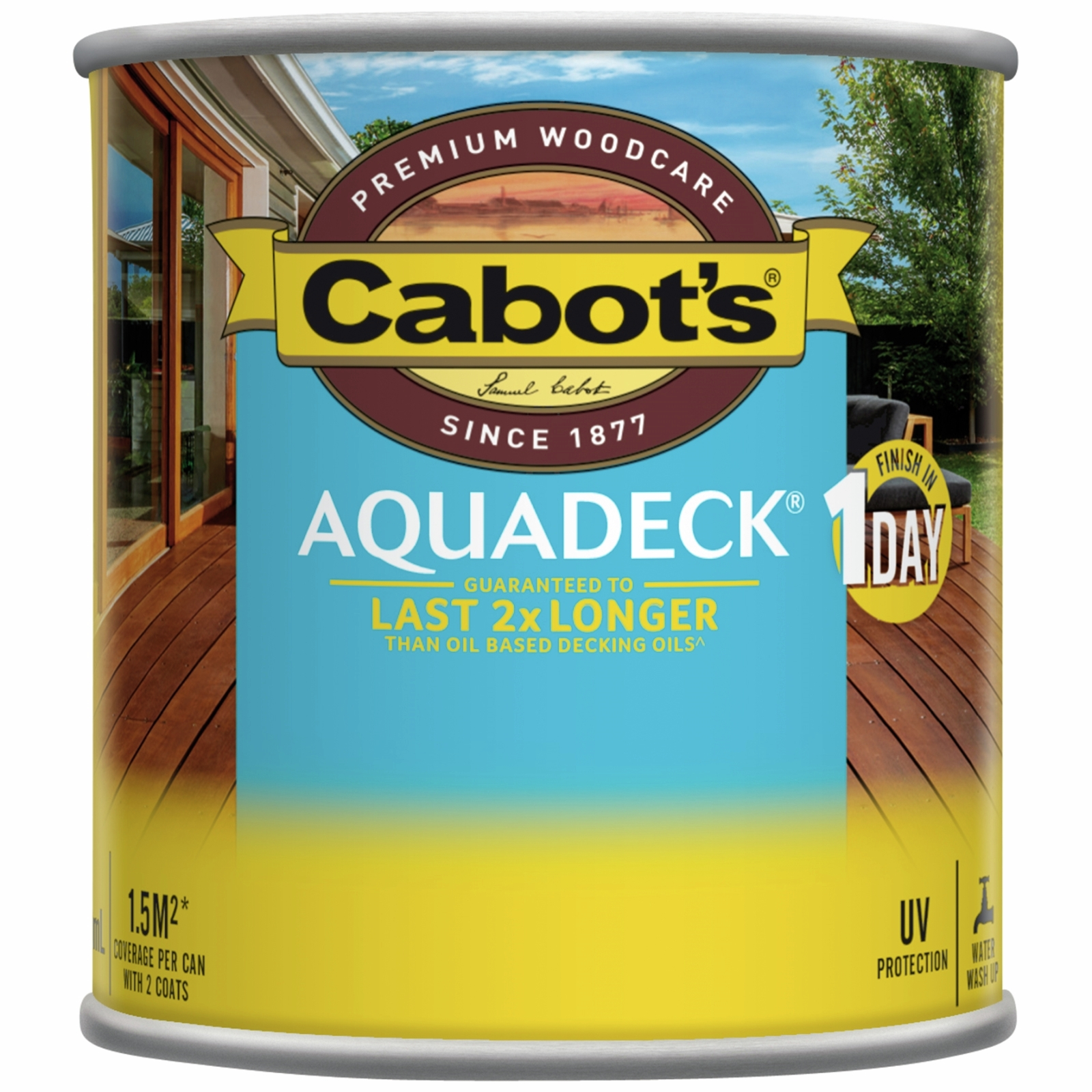 Cabot's 250ml Waterbased Burnt Walnut Aquadeck Decking Oil