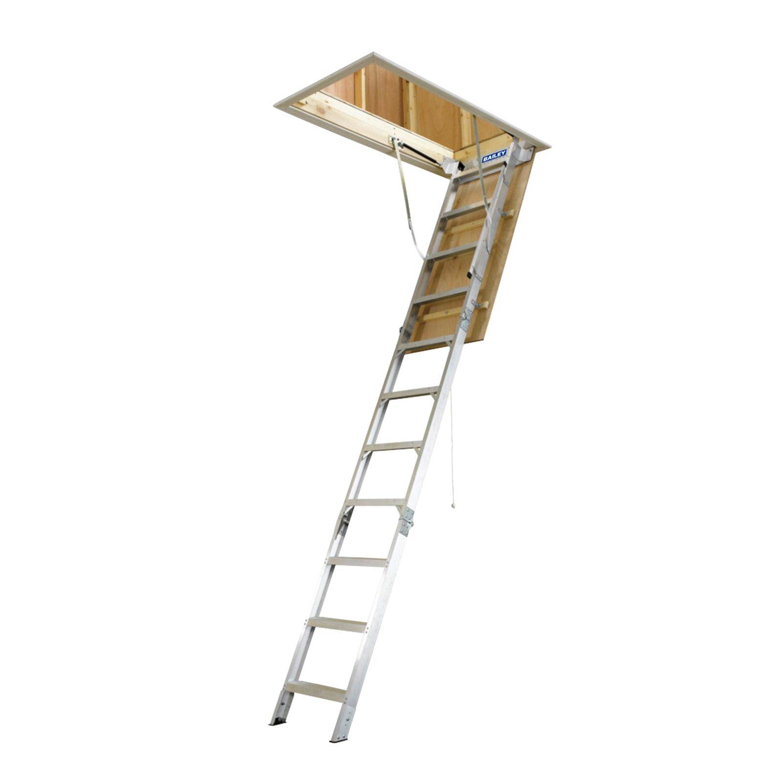 Bailey 2.34 - 3.12m 170kg Aluminium Folding Attic Ladder